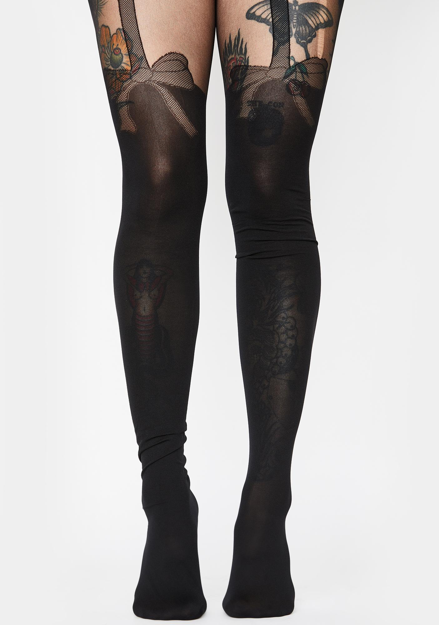 Playin' It Up Bow Tights