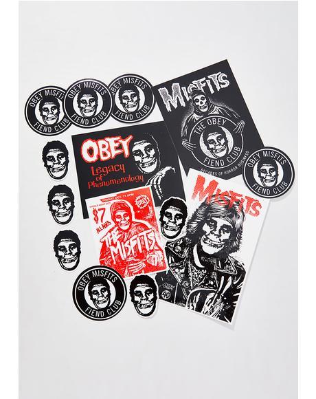 x Misfits Sticker Pack