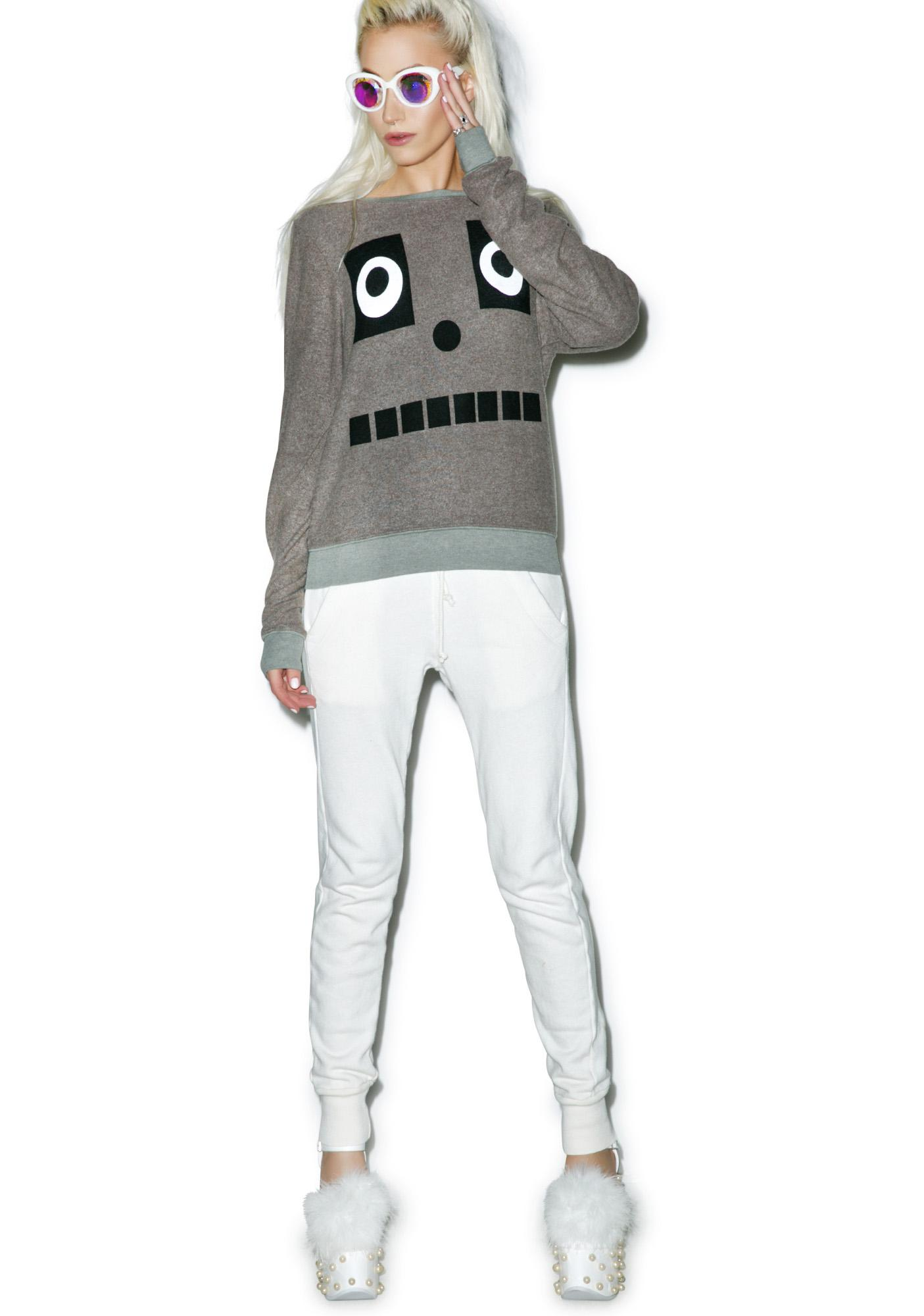 Wildfox Couture I'm A Robot Baggy Beach Jumper