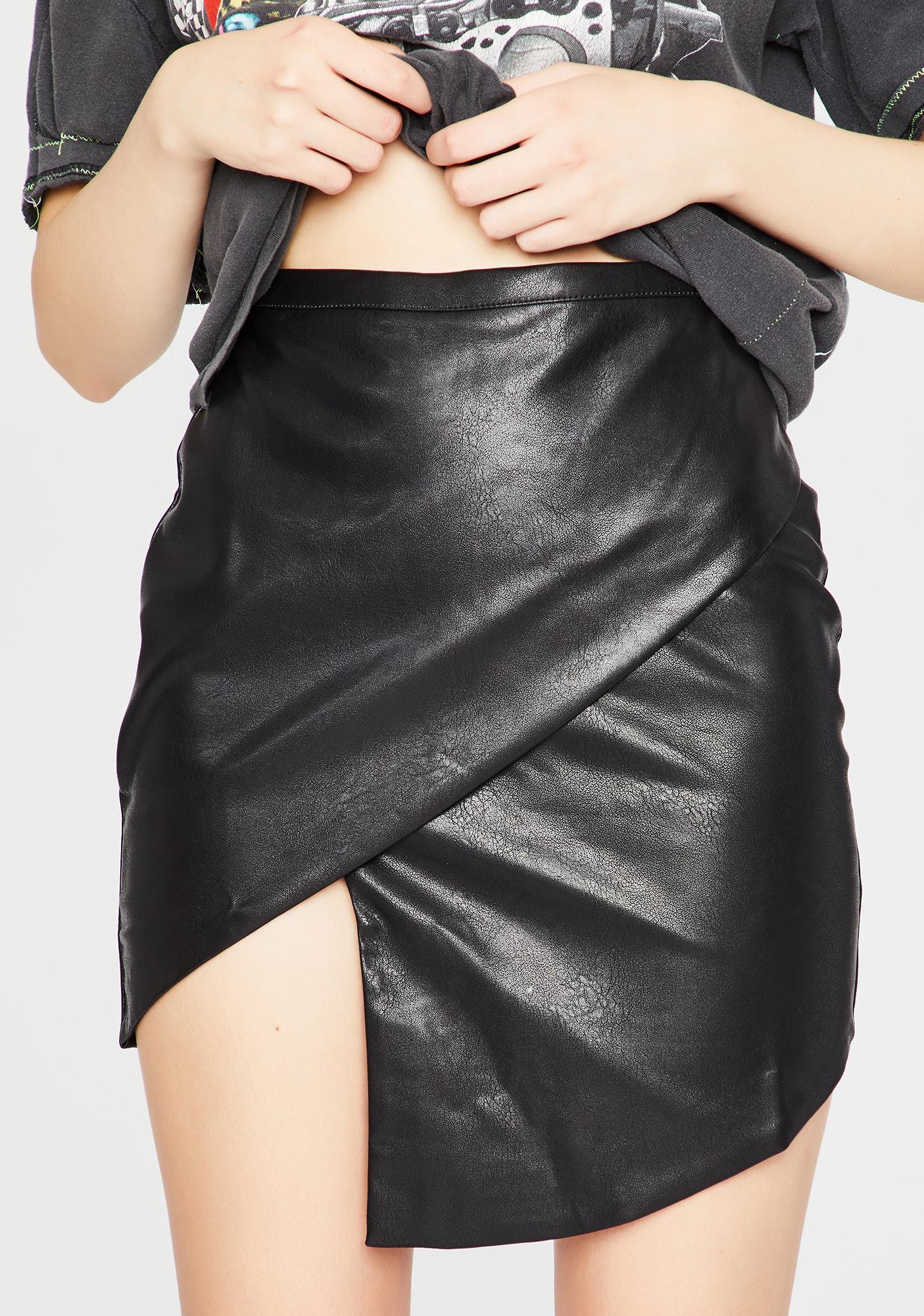 Highway Heartbreaker Asymmetrical Mini Skirt