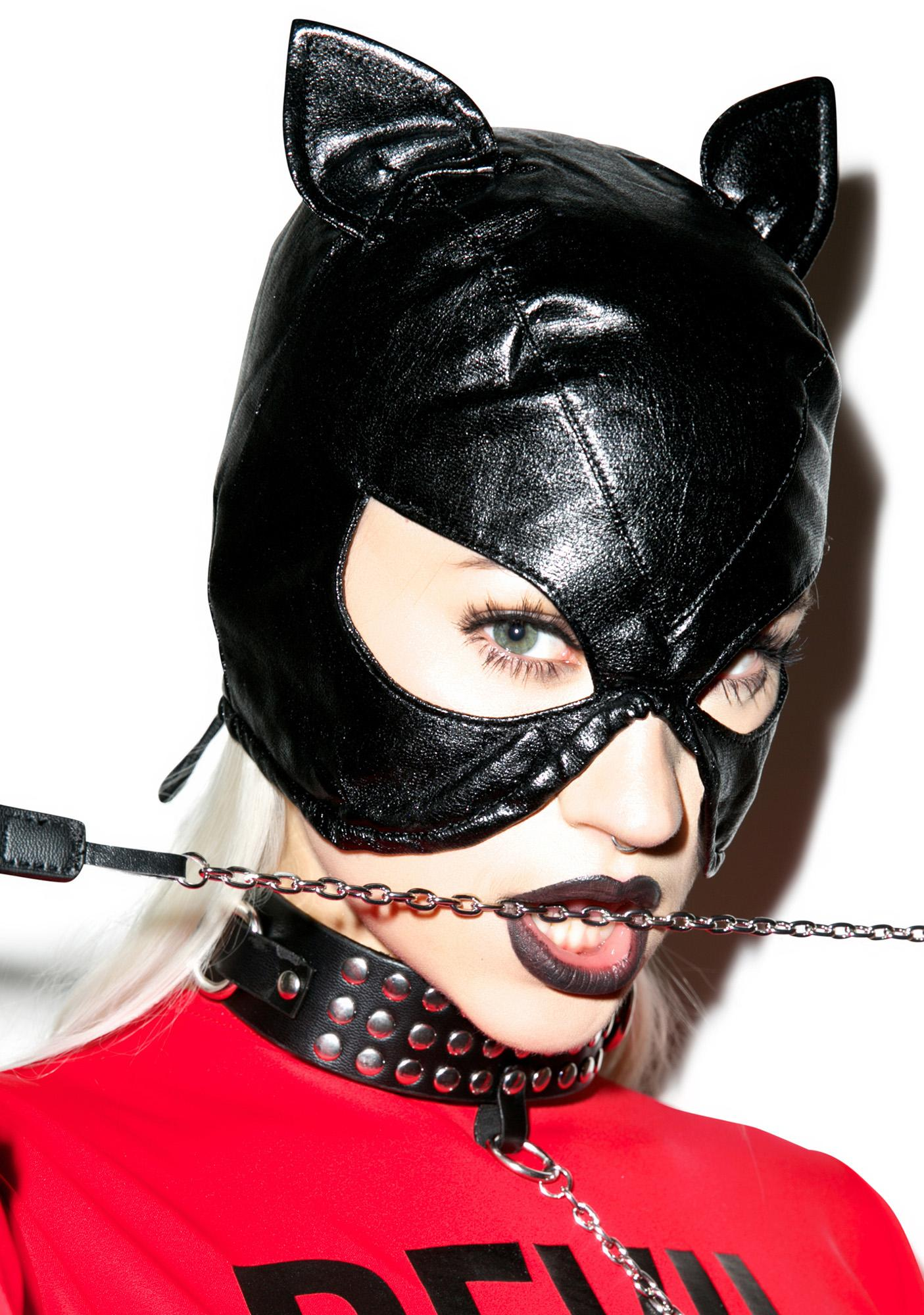 Bad Kitten Bondage Mask