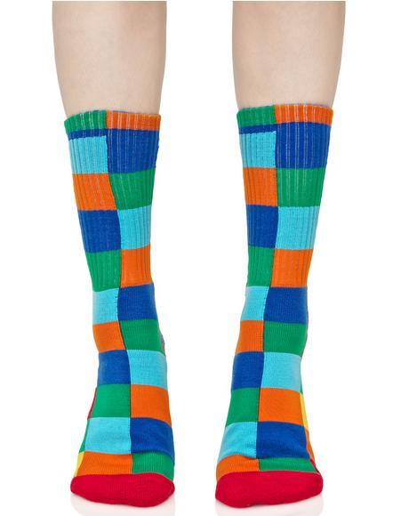 Loud Shapes Crew Sock