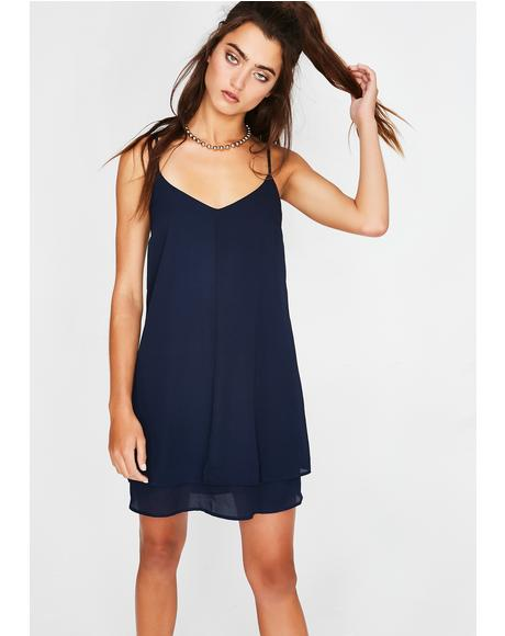 Sapphire Psychic City Mini Dress