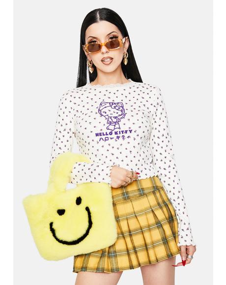 Hello Kitty Pointelle Top