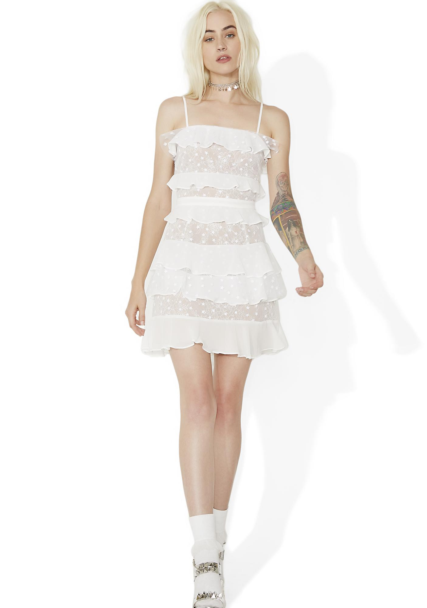 For Love & Lemons Cosmic Tiered Lace Dress