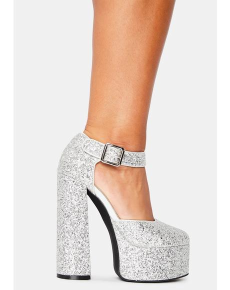 Shine By Night Glitter Heels