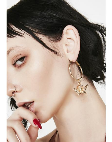BB Cupid Hoop Earrings
