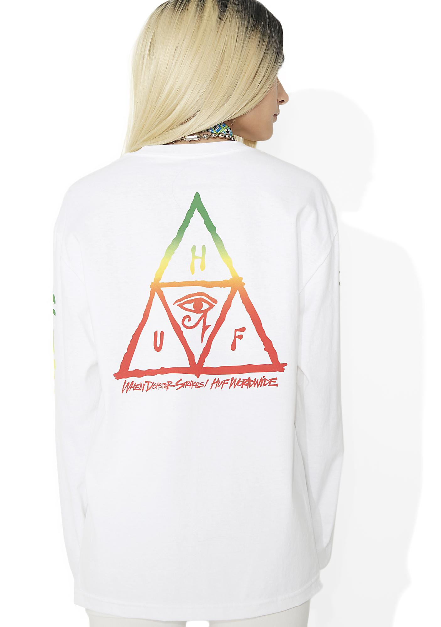 HUF Disaster Triangle Long Sleeve Tee