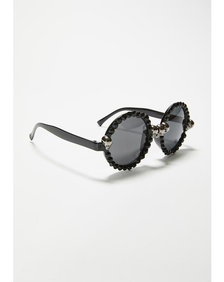 Left For Dread Circle Sunglasses