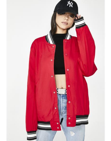 Peep Show Varsity Reversible Jacket