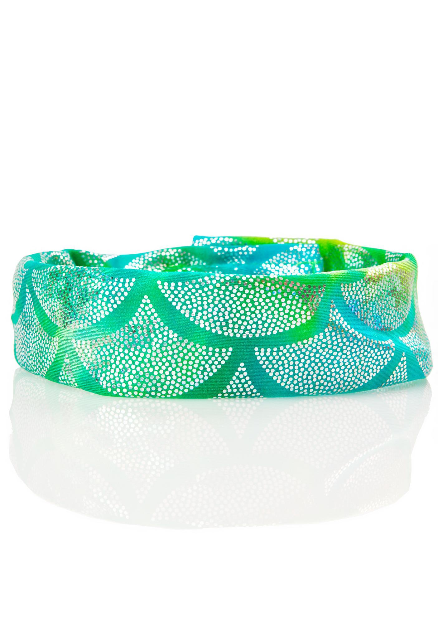 J Valentine Aqua Light-Up Mermaid Choker