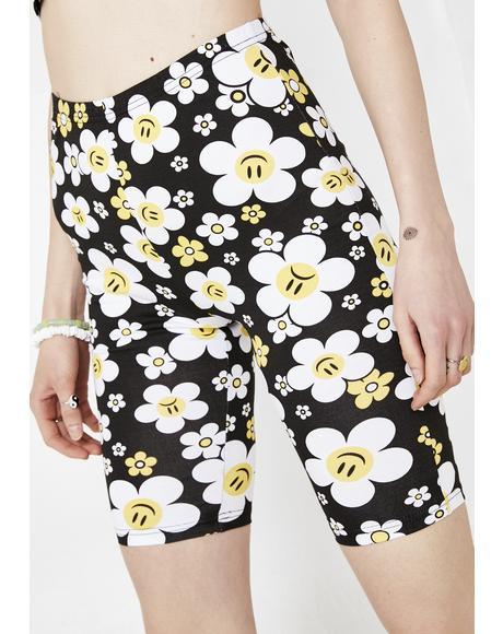 Hazy Daisy Biker Shorts