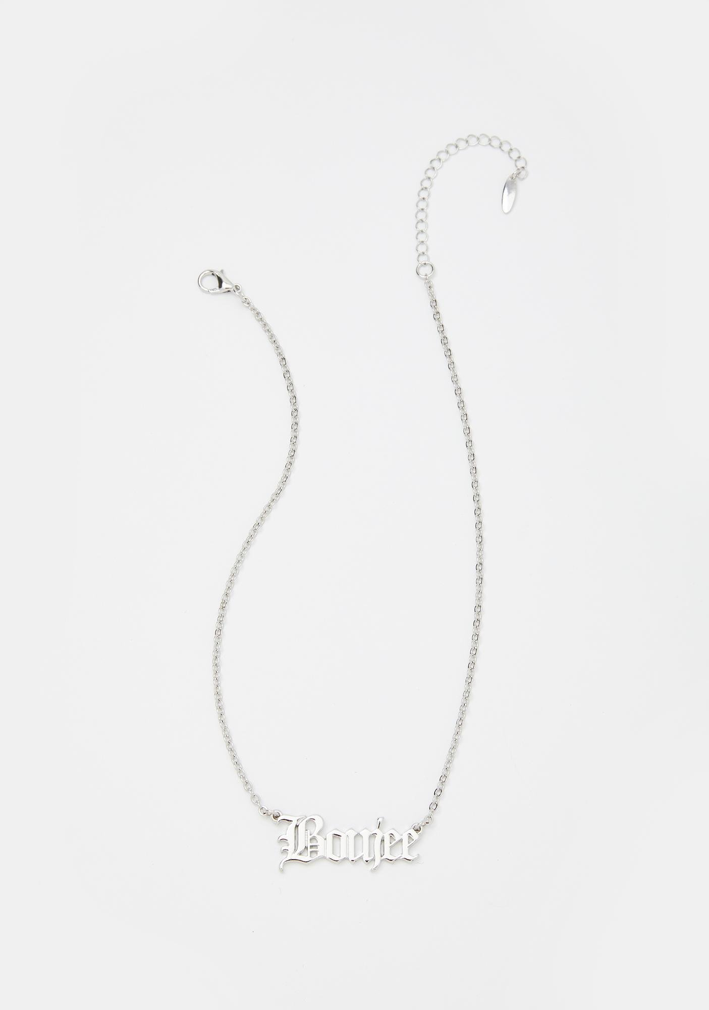 Boujee Appetite Nameplate Necklace