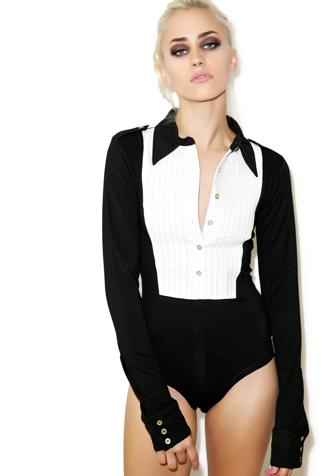 One Teaspoon Tuxedo Bodysuit