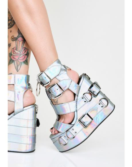Galactic Glitter Holographic Platforms