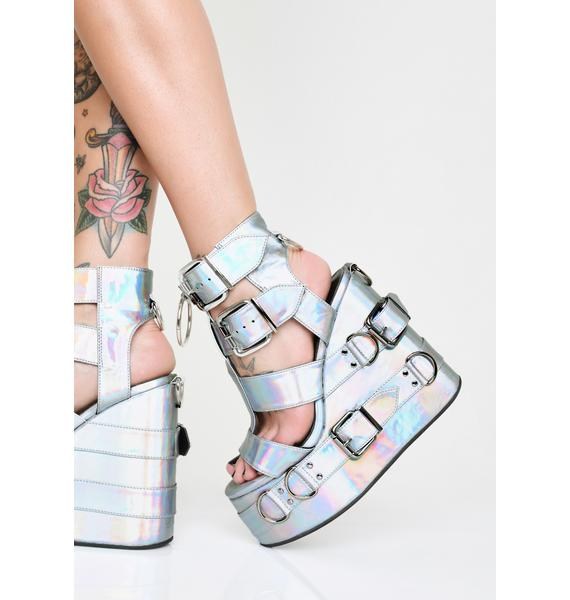 Sugar Thrillz Galactic Glitter Holographic Platforms