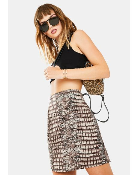 Croc Sheny Mini Skirt