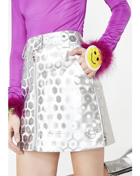 Chrome Trippy Vision Mini Skirt