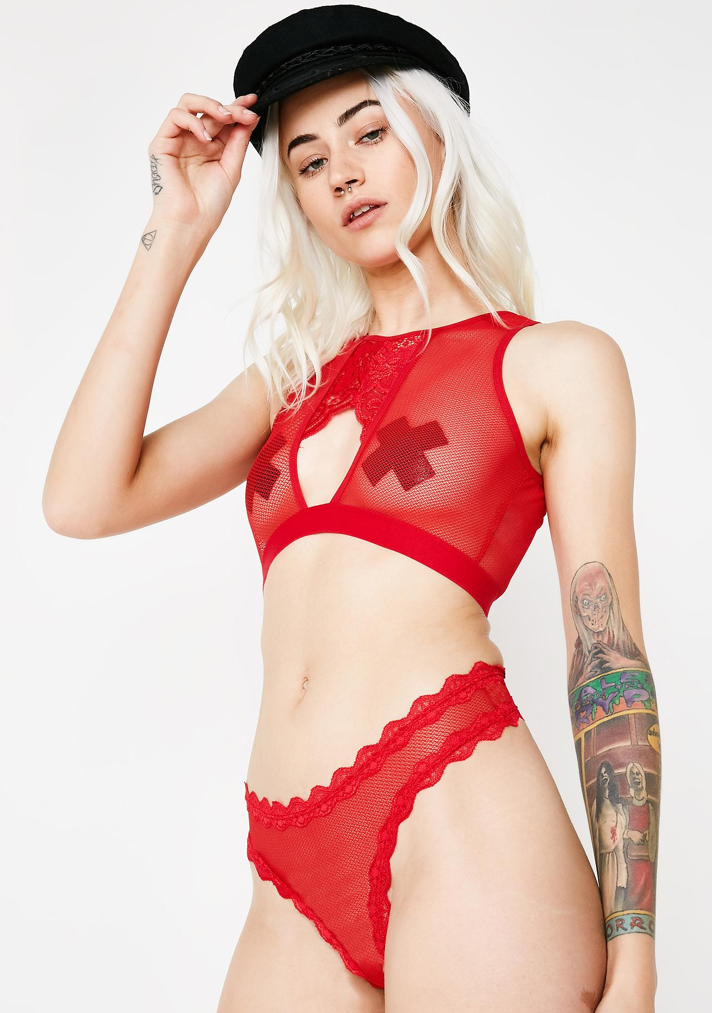 Take It To Heart Sheer Set