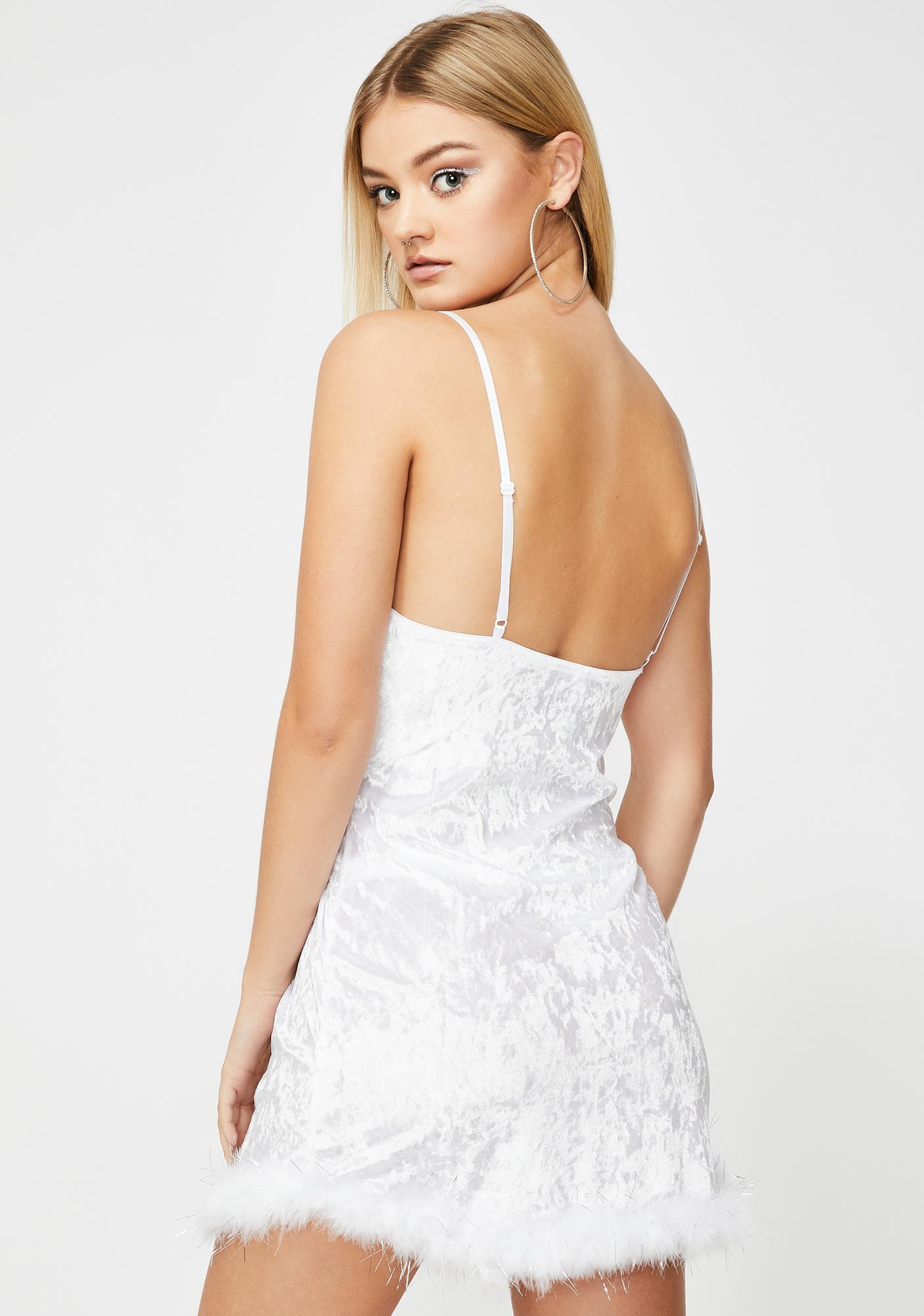 White Winter Velvet Nightie