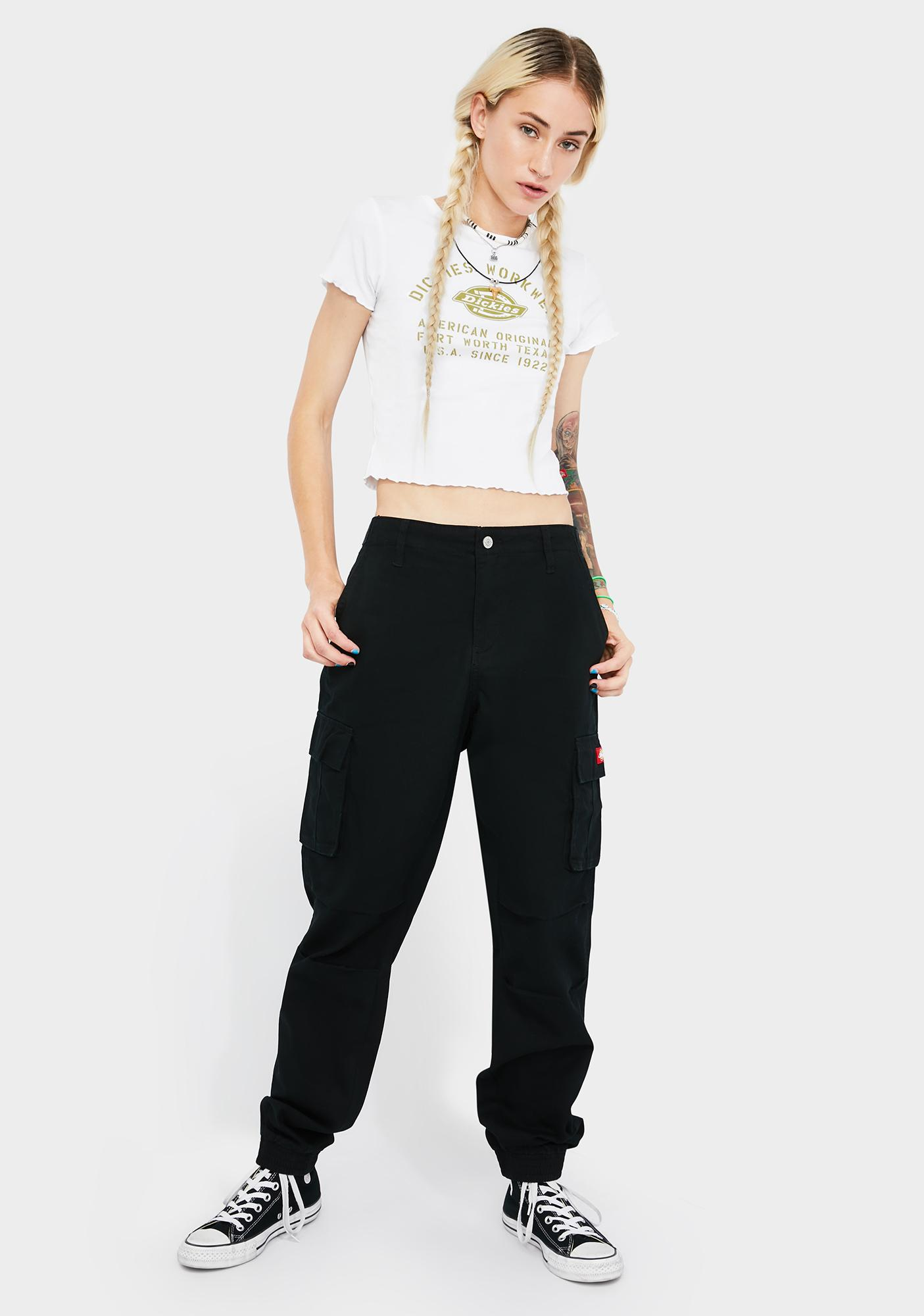 Dickies Girl Utility Slash Pocket Cargo Joggers