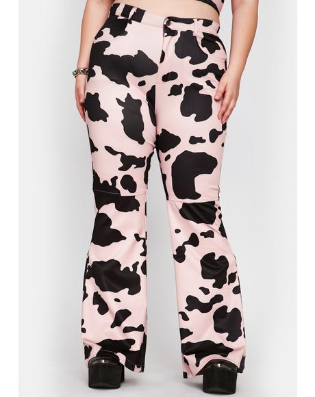 Baby Duh Everything's A1 Cow Print Pants