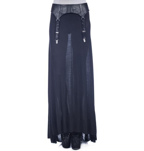 Widow Garter Belt Maxi Skirt