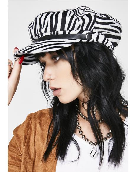 Zebra Toni Hat