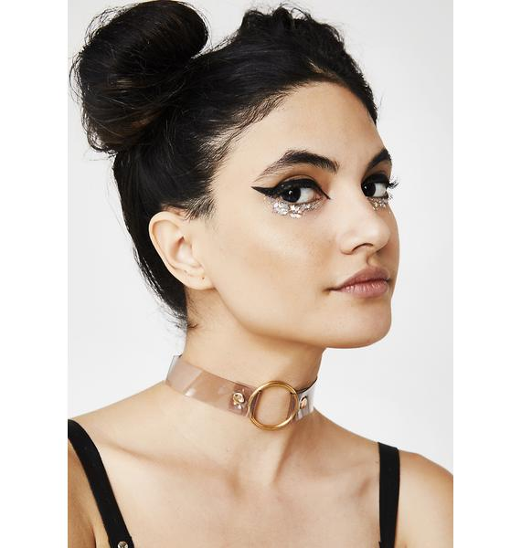 Crystal Clear Galacti-Gal O-Ring Choker