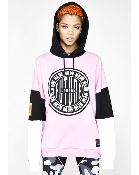 Stamp Logo Hooded Sweatshirt