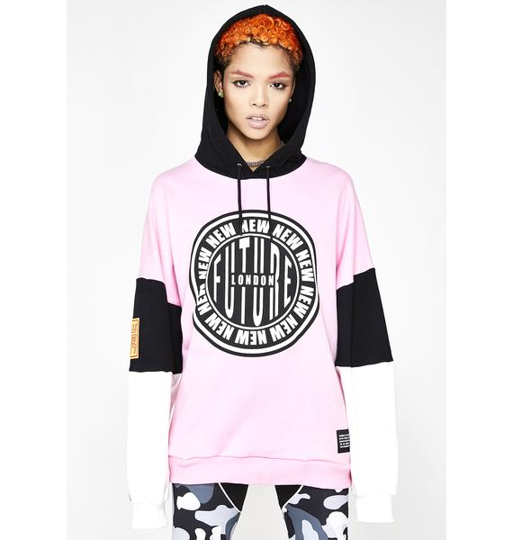 NEW FTR LDN Stamp Logo Hooded Sweatshirt