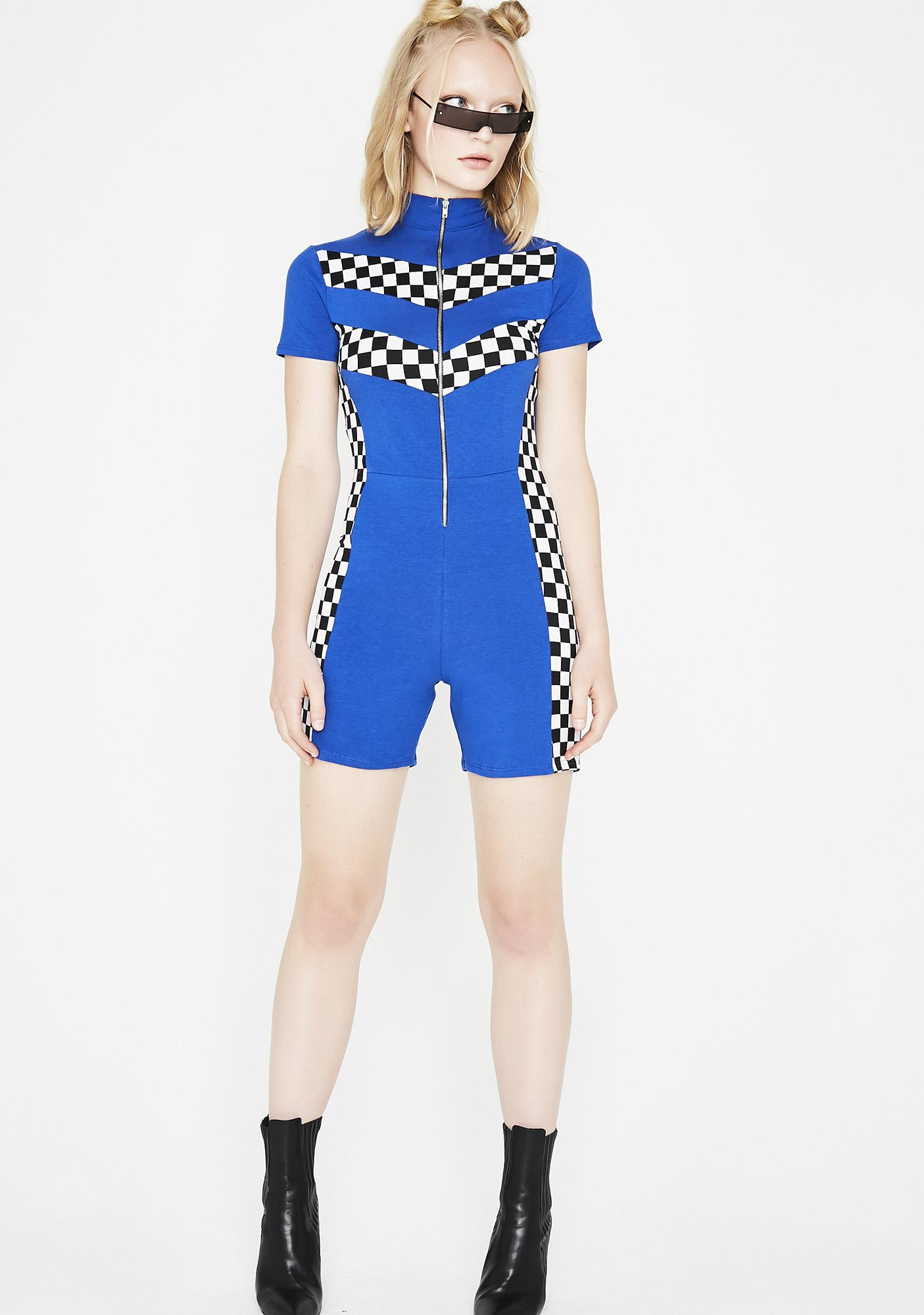 Royal Win The Race Racer Romper