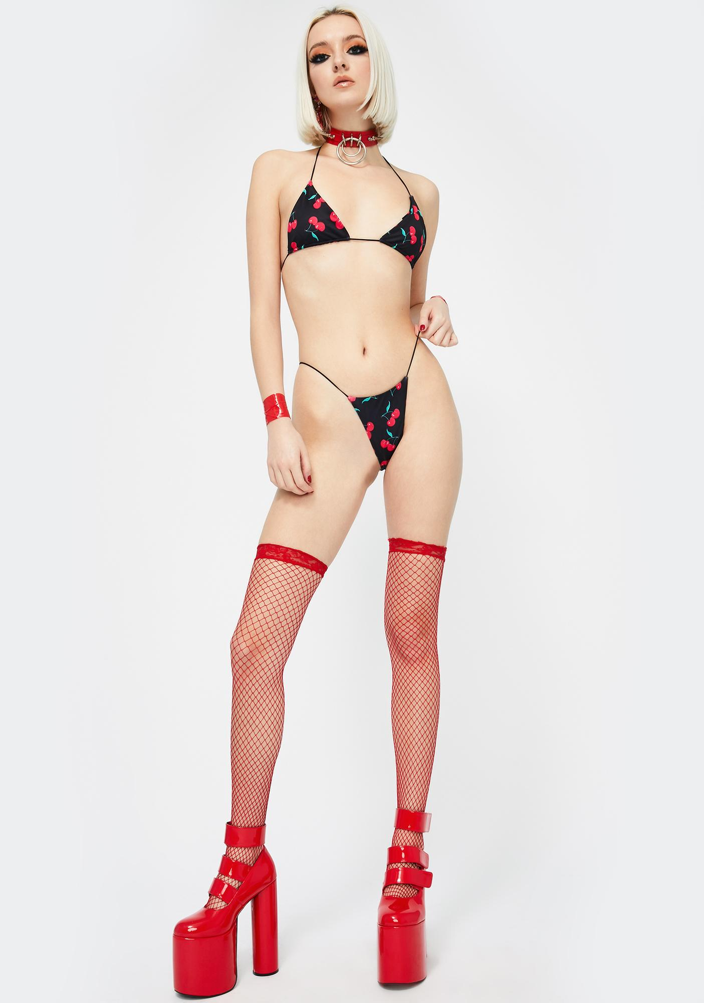 Candy Shop Lingerie The Cherry Bikini Set