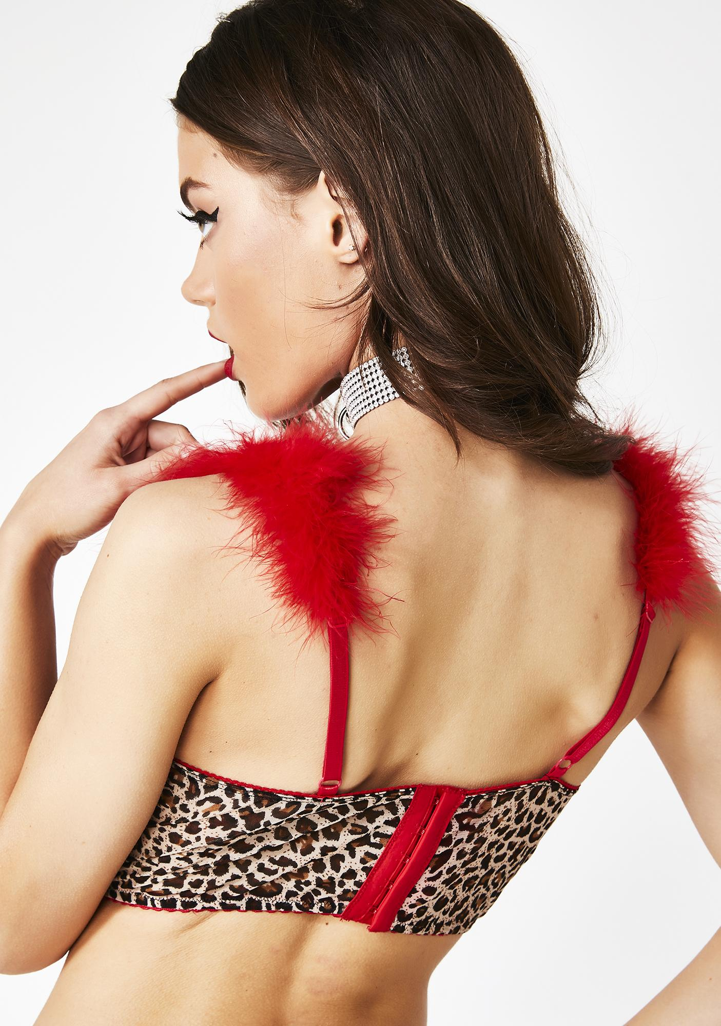 Current Mood Sultry Sweetheart Leopard Bra