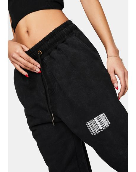 Black Wash Relaxed Fit Joggers