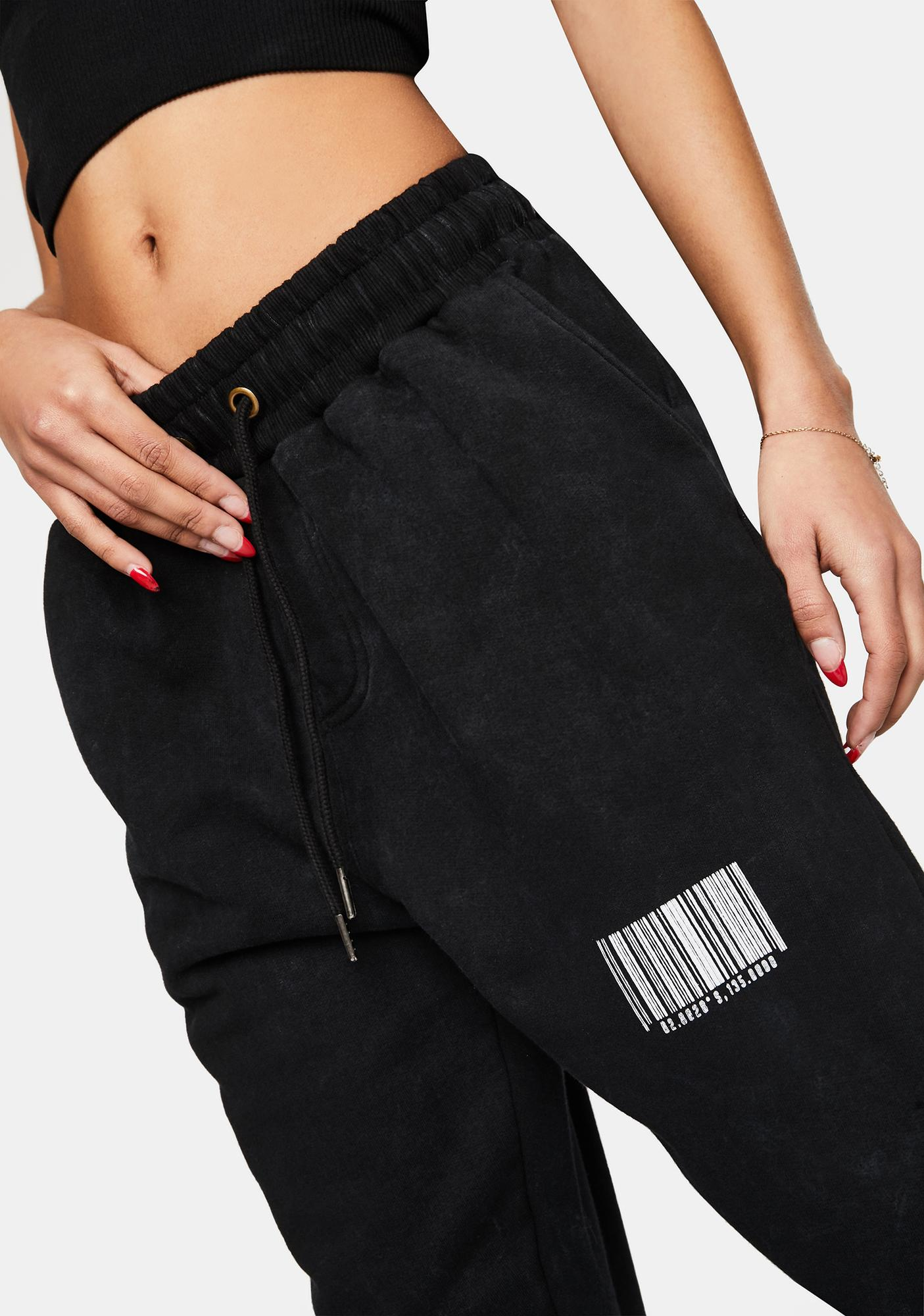 Liquor N Poker Black Wash Relaxed Fit Joggers