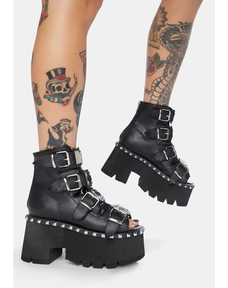 Ashes Platform Bootie Sandals