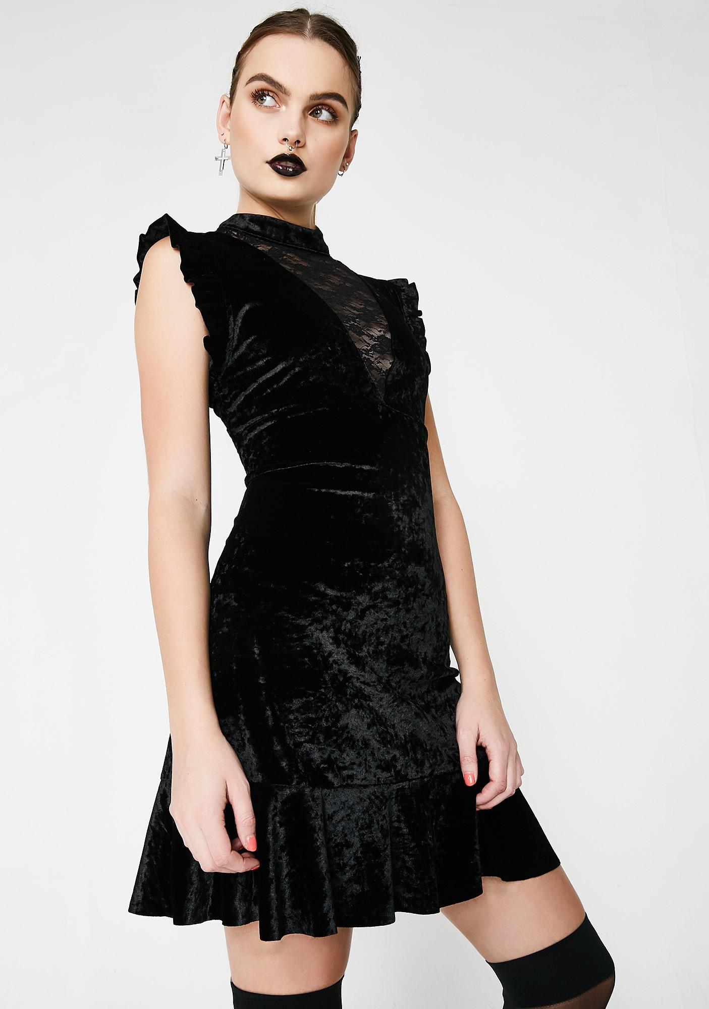 Heart Taker Velvet Dress