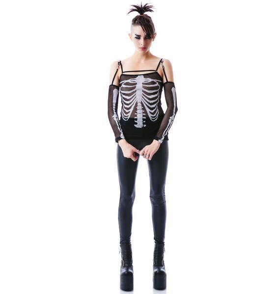 Lip Service Condemned Skeleton Long Sleeve Tee