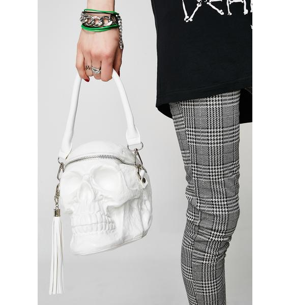 Killstar Ghosted Grave Digger Skull Handbag