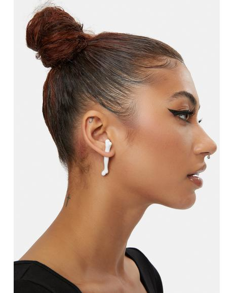 To The Grave Bones Stud Earrings