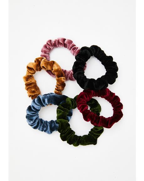 All Tied Up Velvet Scrunchie Set