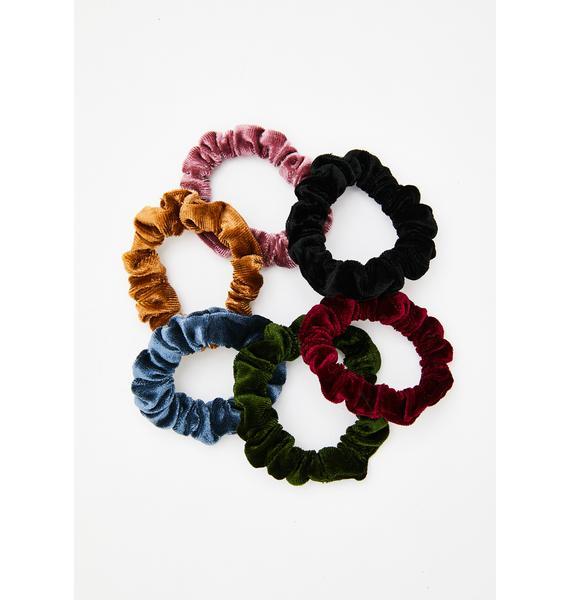 All Tied Up Velvet Scrunchie Set