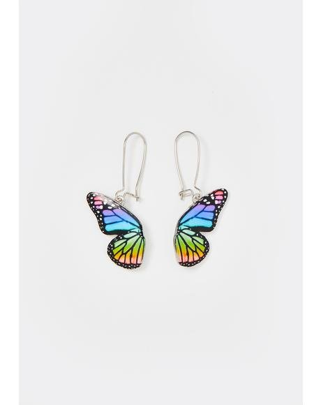 Hidden Wings Butterfly Earrings