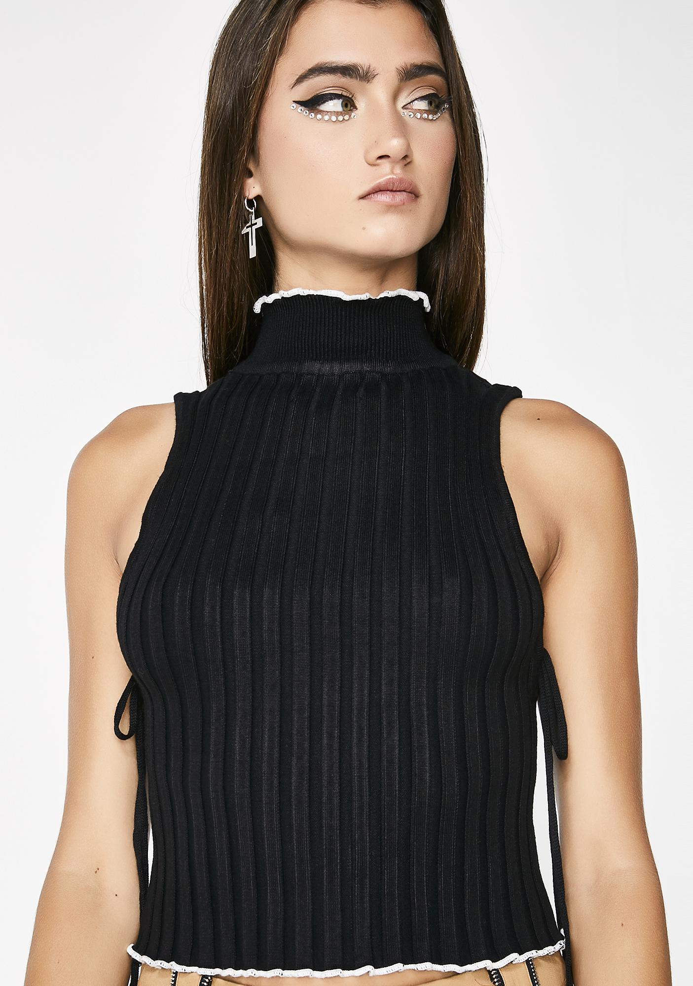 Must Behave Pleated Tank Top