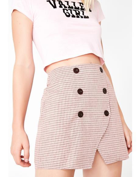 Callin The Shots Mini Skirt
