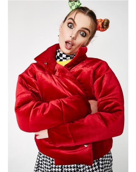 Crazy Velvet Puffer Jacket