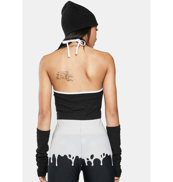 Too Fast Baby Ghoul Halter Top