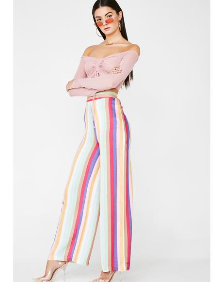 Striking Stripes Wide Leg Pants