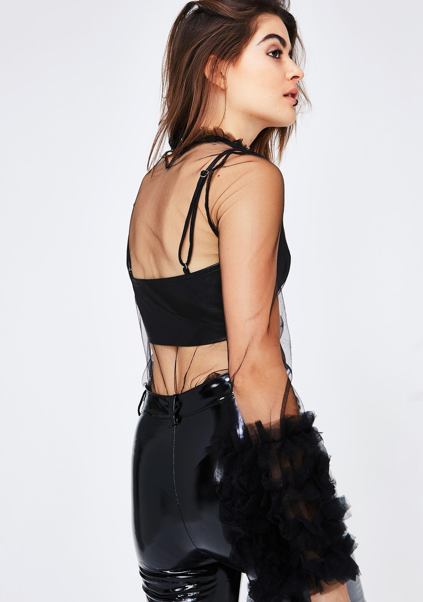 What The Fluff Mesh Top